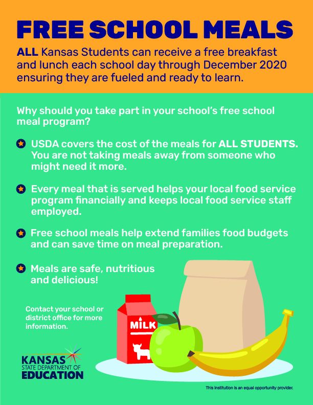 Free student meals until Dec. 2020 Flyer