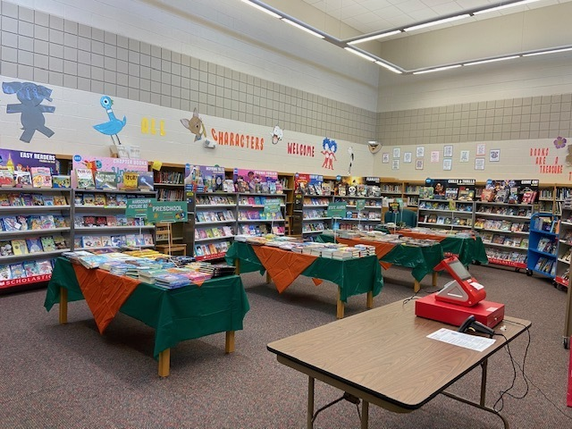 Book Fair set up and open