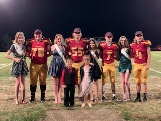 Homecoming Queen & King and court