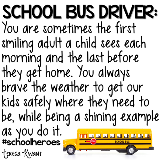 Bus driver thank you quote