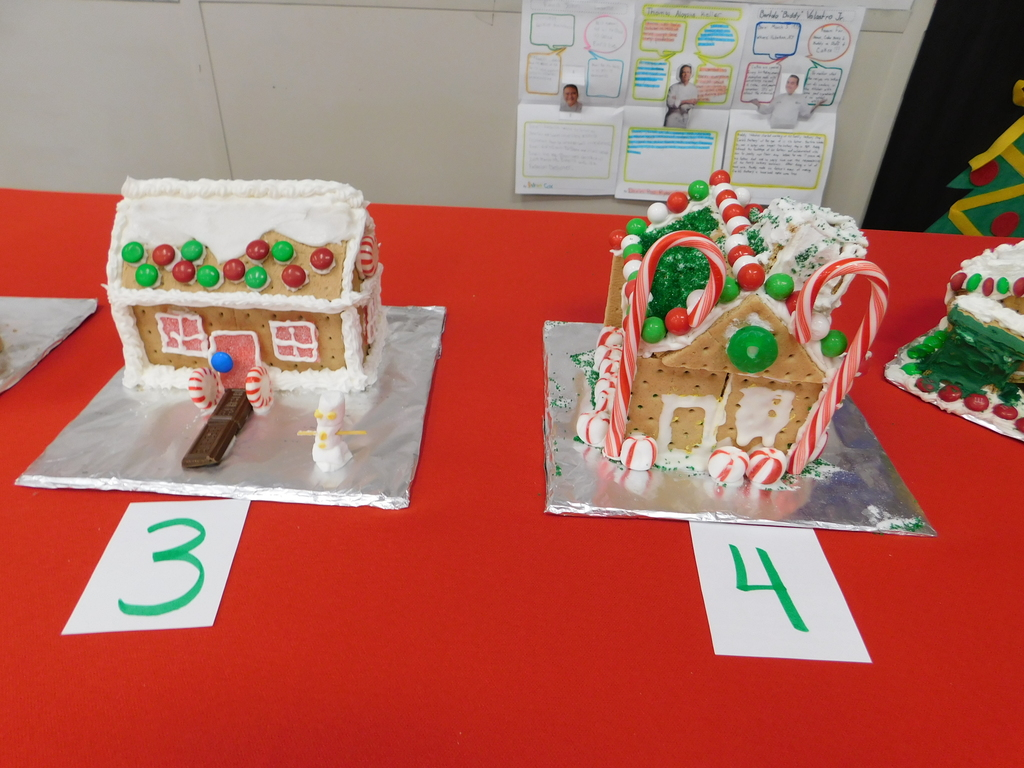 Mrs. Bergin's Culinary Class Gingerbread Houses