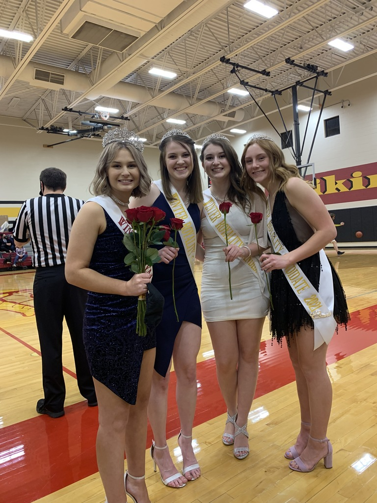 Winter Royalty Queen & Attendants; Kiki, Megan, Paige, Tatiana