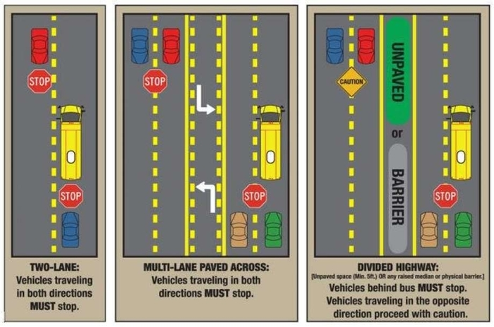 Bus Safety Illustration