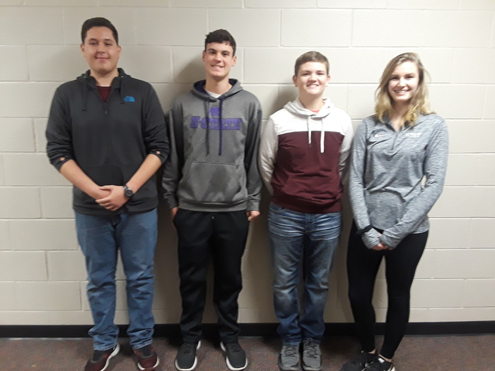 Students chosen to compete in the North Central KMEA District Honor Band and Honor Choir