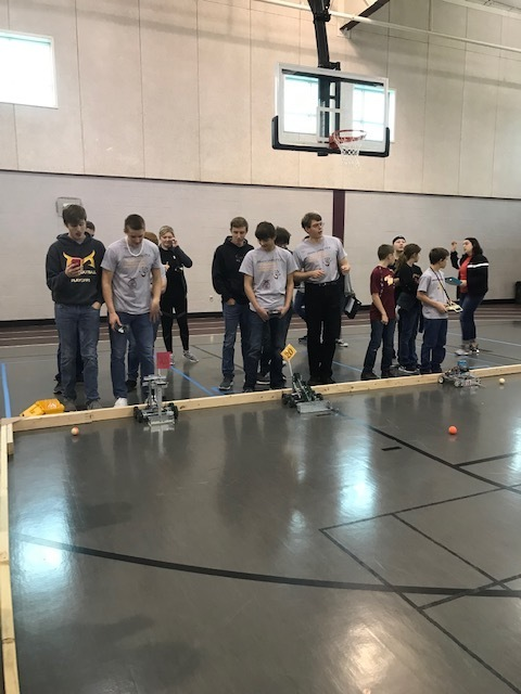 All three Mission Valley Robotics Teams