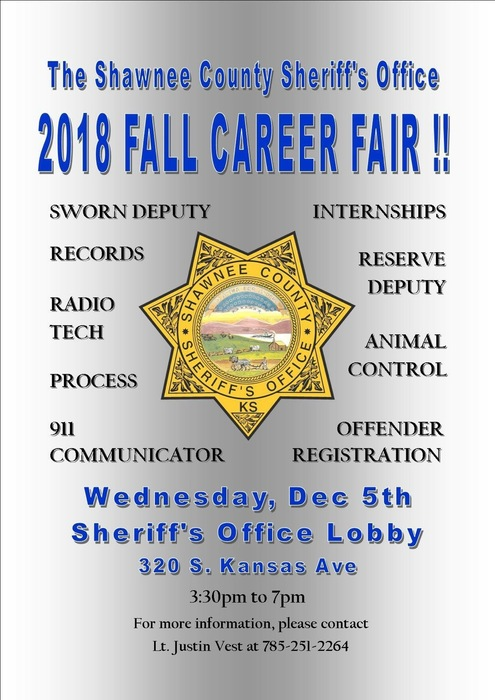 Shawnee County Sheriff's Office Fall Career Fair