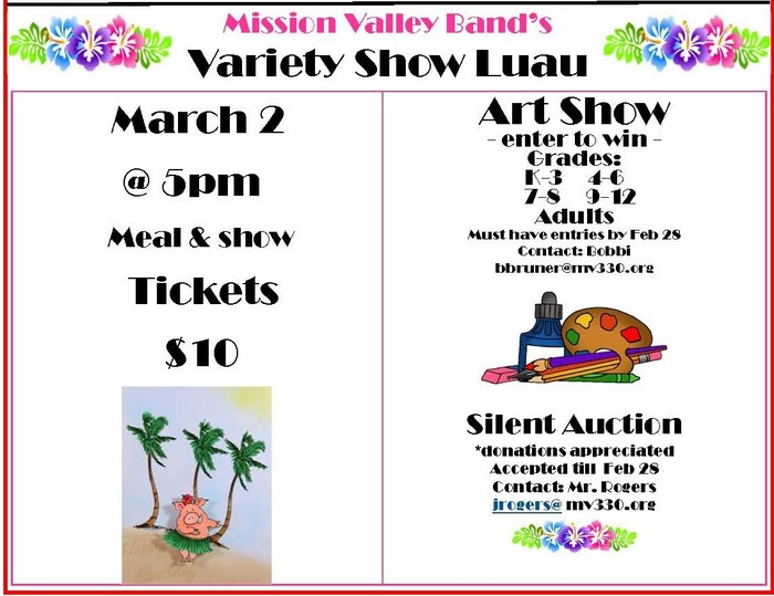Mission Valley Band's Luau & Art Show - March 2, 2019