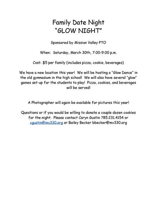 PTO's Date Night Information