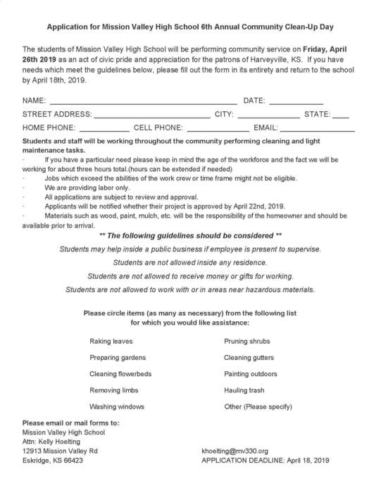 FFA Highway Cleanup Application