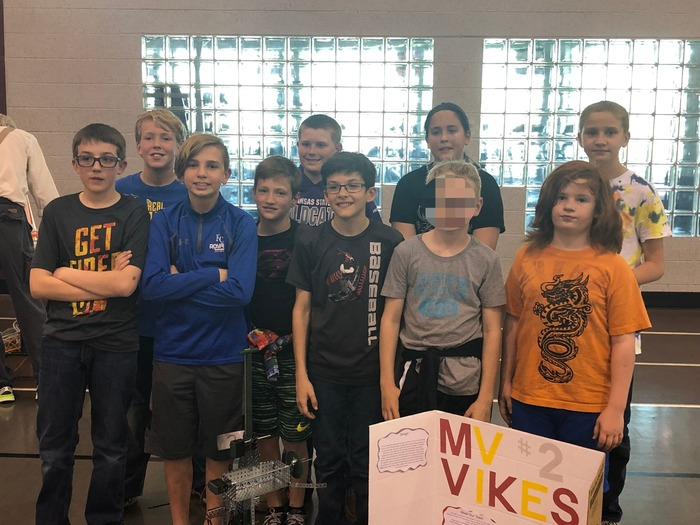Mrs. Hays' students at the ESU Robotics