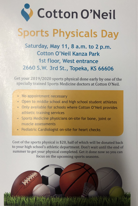 Sport Physical Day flier