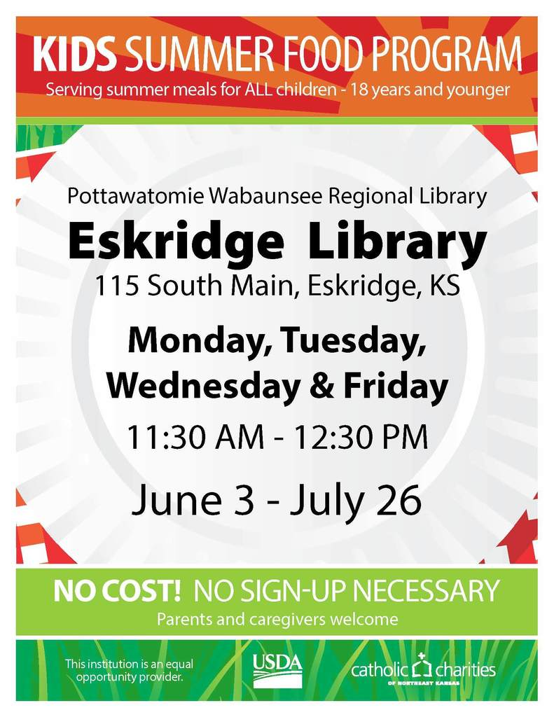 Eskridge Lunch Library Lunch Program