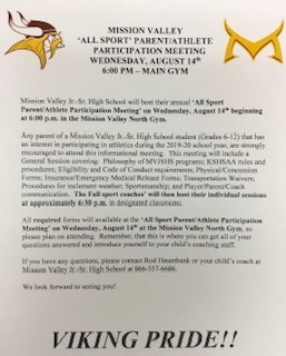 All-Sport Parent Mtg. Flyer