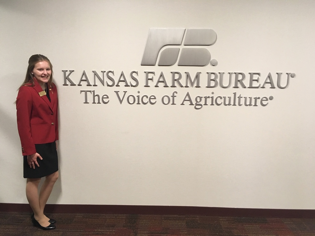 Karlyn Gustin presented to the Kansas Farm Bureau