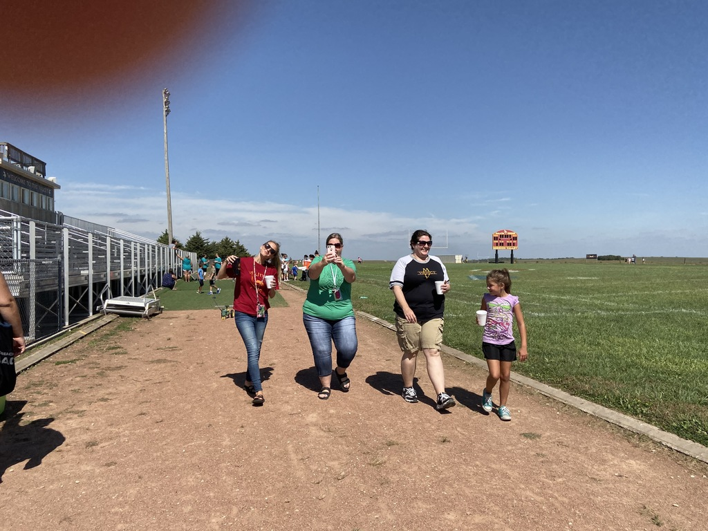 Some of our Elementary teachers in the Walk-a-thon