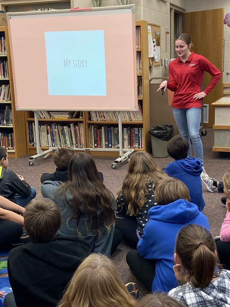 Karlyn talking with the 6th graders about Kindness