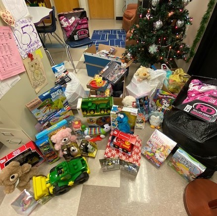 Toys donated to the Rescue Mission by MV Elementary
