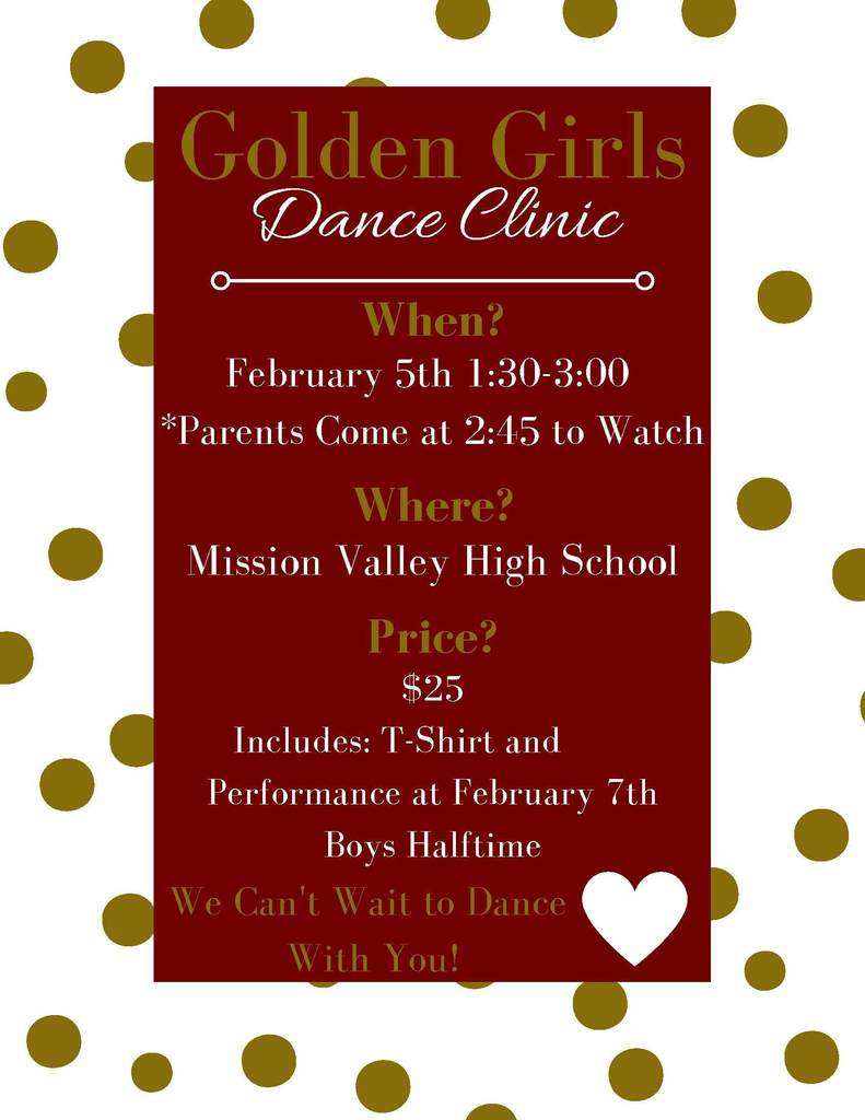 Dance Clinic Information Flyer