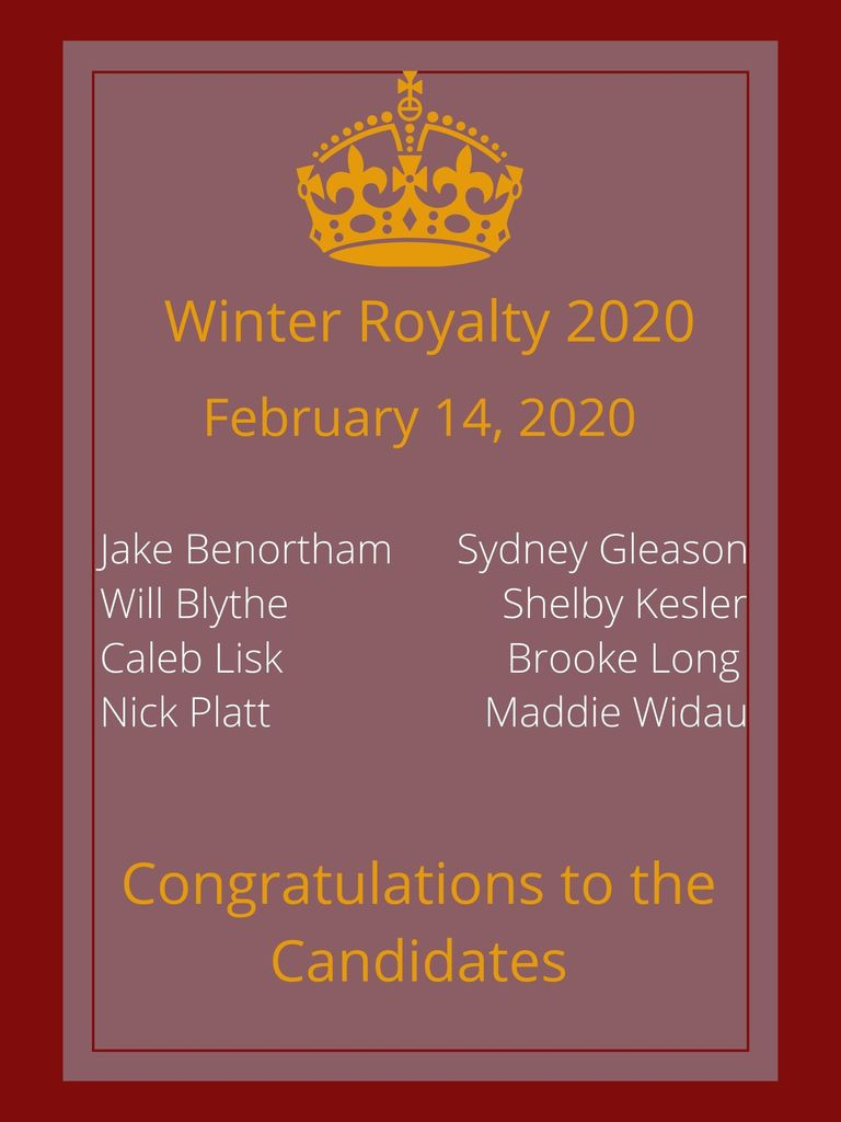Winter Royalty Candidates Poster