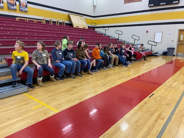 Excited spellers for the Wabaunsee County spelling bee