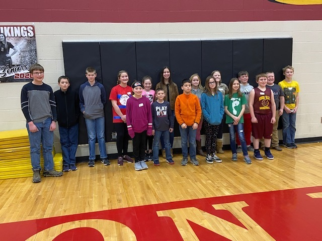 Top spellers at the Wabaunsee County spelling bee