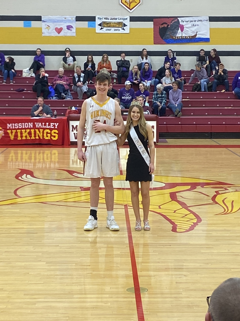 Will and Maddie, Winter Royalty Queen and King!