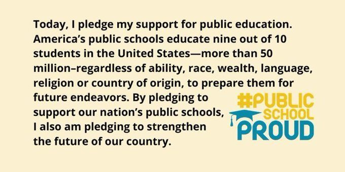 Public School's week Pledge