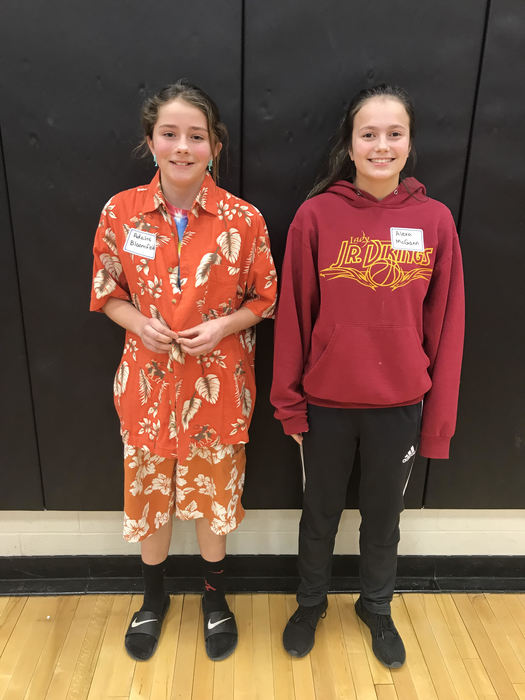 Top finishers in the Wabaunsee County Spelling Bee