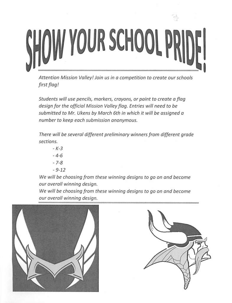 New School Flag Competition Flyer