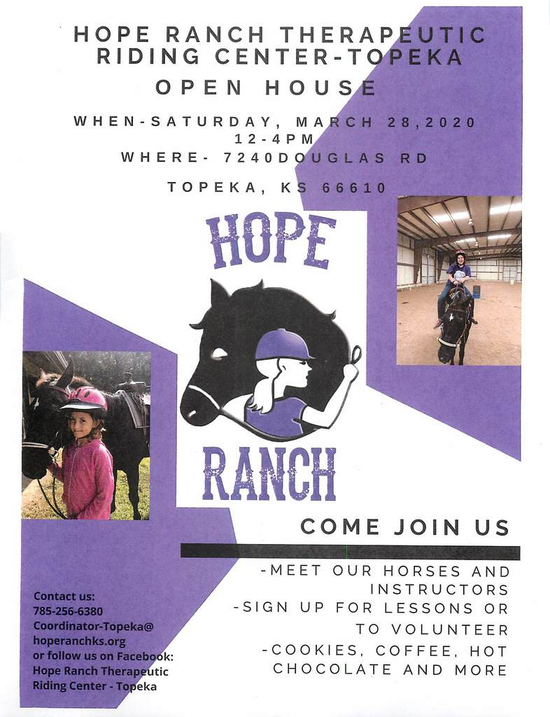 Hope Ranch Open House, March 28, 2020 Flyer