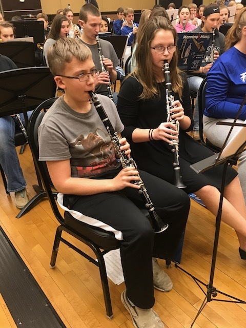 Lane & Sarah at JH League Band Concert