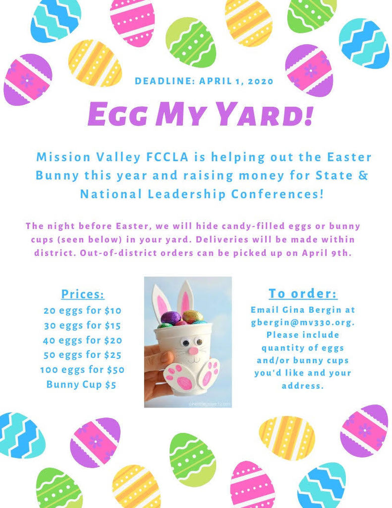 FCCLA  - Egg my Yard-Help the Easter Bunny Flyer