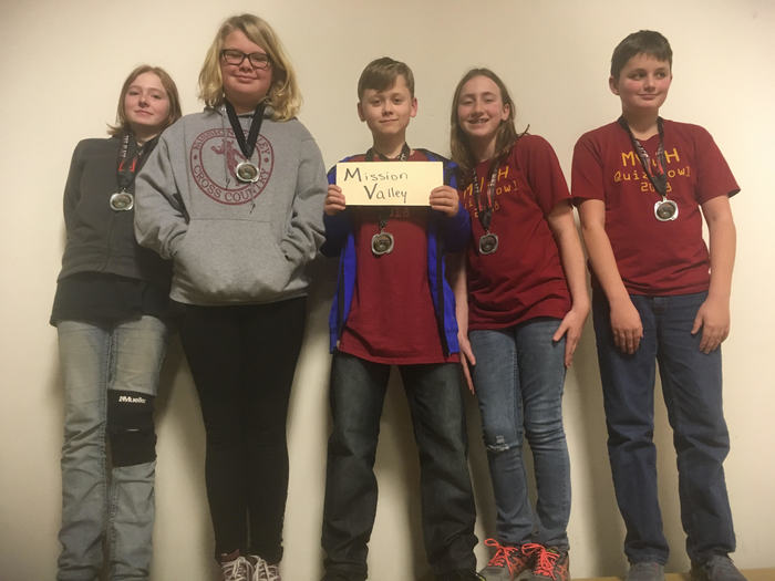 7th Grade Quiz Bowl Team