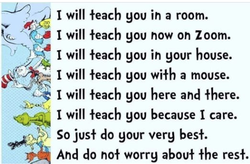Dr. Seuss fun rhyming with Zoom Video
