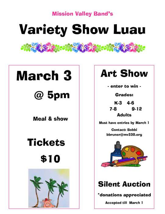 Mission Valley Band Luau Flyer