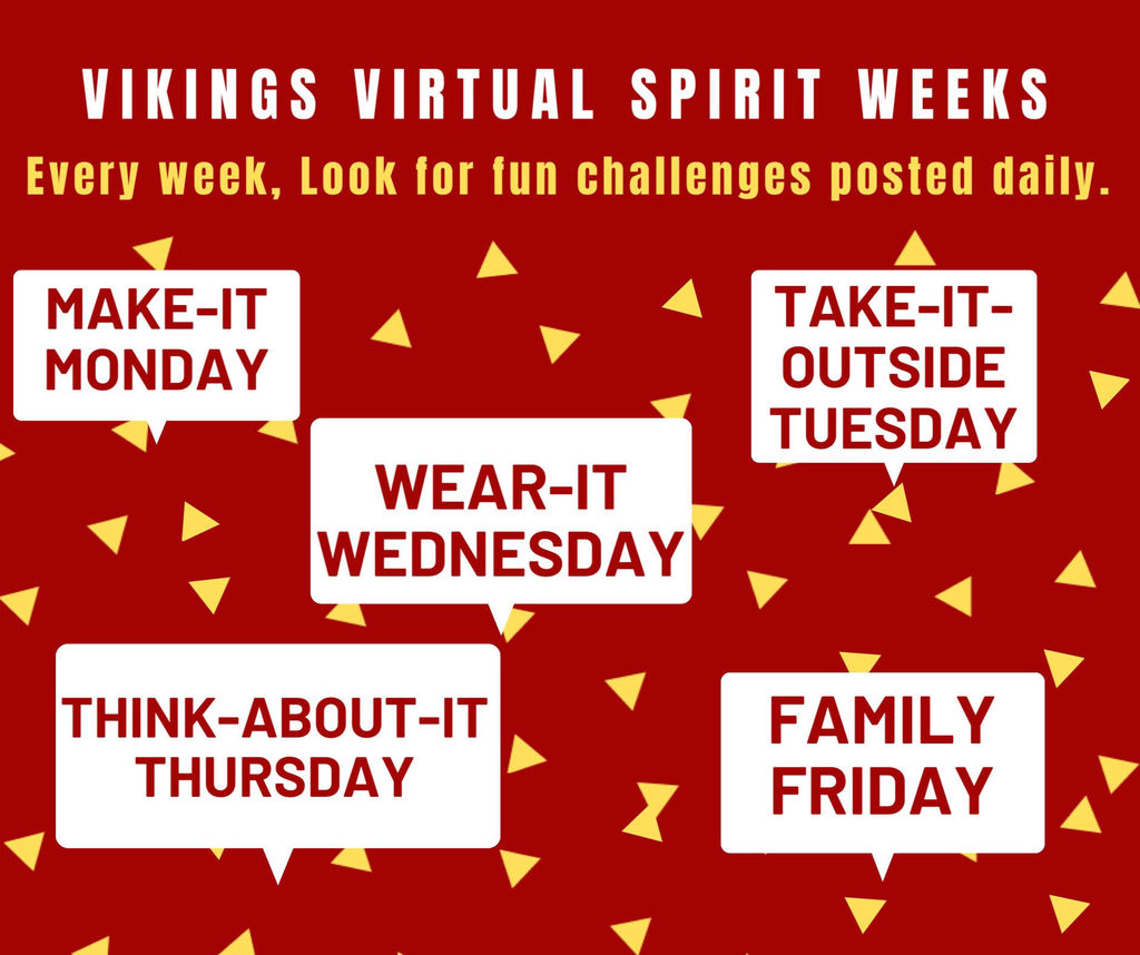 Virtual Spirit Week Idea days