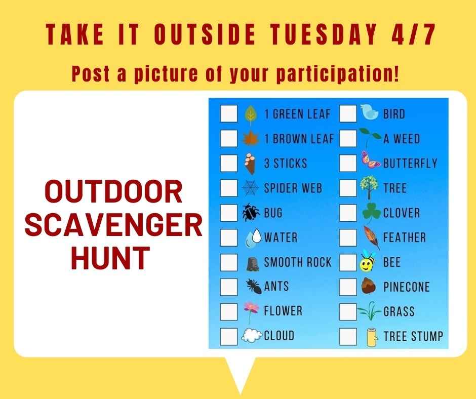 Virtual Spirit Week -Take it Outside Tuesday - April 7