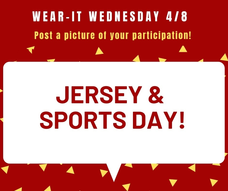 Virtual Spirit Week - Wear It Wednesday!