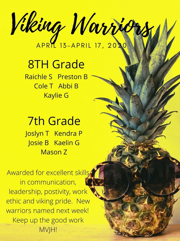 JH Viking Warriors Award Flyer