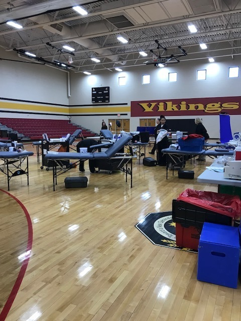 FFA Blood Drive Set Up