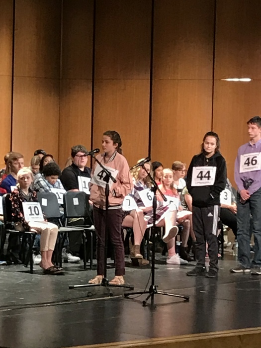 Adaline Bloomfield at the State Spelling Bee March 10, 2018
