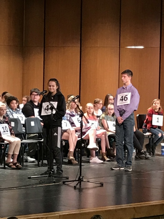 Alexa McGann at the Regional Spelling Bee March 10, 2018