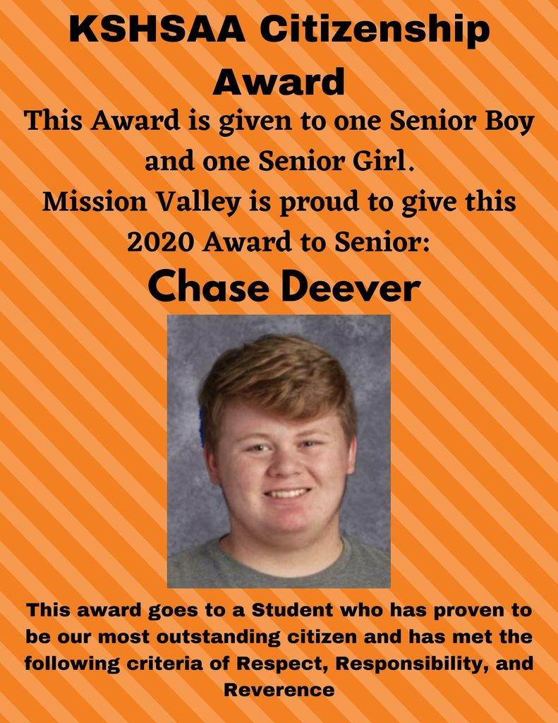 Chase Deever - Senior boy citizenship award