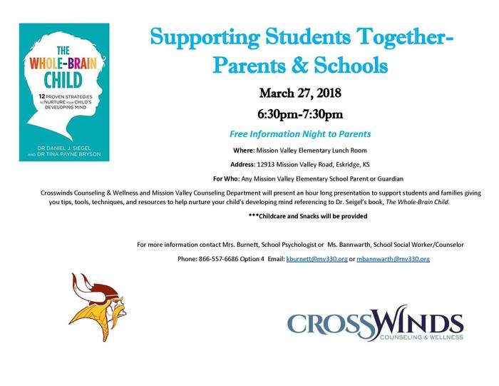 Supporting Students Together - Parents & Schools Meeting Flyer