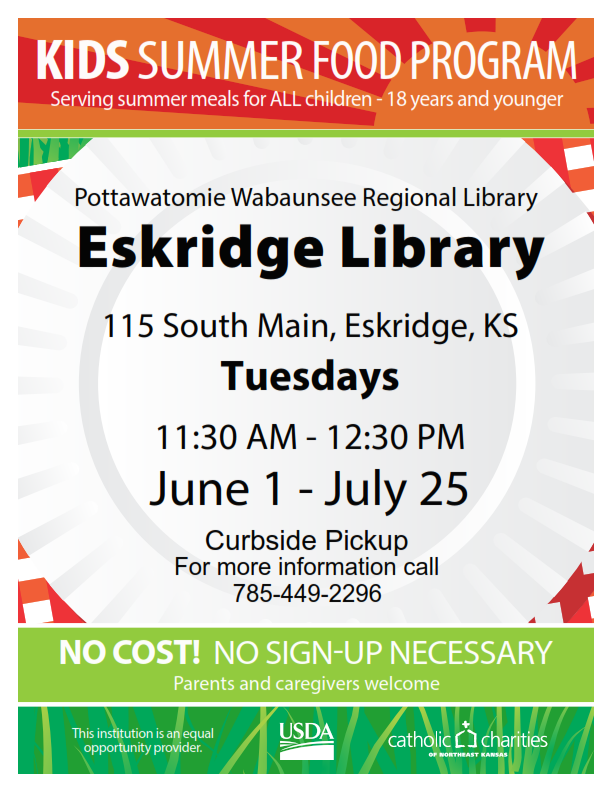 Eskridge Lunch Program Flyer