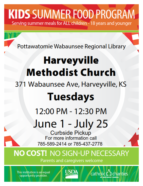 Harveyville Lunch Program Flyer