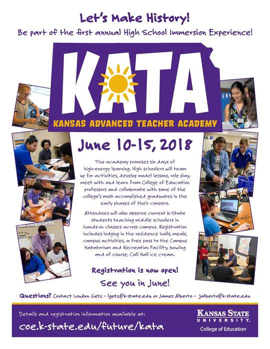 Kansas Advanced Teacher Academy Flyer