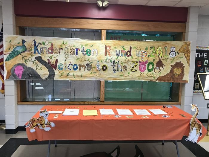 Kindergarten Round Up Sign