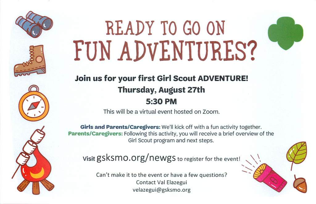 Girls Scouts Adventure Flyer page 1